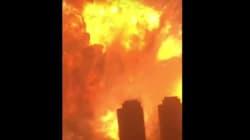 중국 톈진항 폭발의 무시무시한