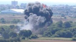 Βρετανικό μαχητικό αεροσκάφος συνετρίβη σε αυτοκινητόδρομο σπέρνοντας τον