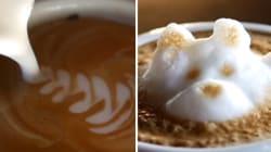 Des œuvres d'art sur café