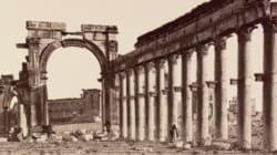 IS가 파괴한 팔미라 유적의 과거 모습(슬라이드