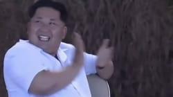 Kim Jong Un hilare après l'explosion d'un