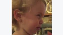 Το σπαρακτικό κλάμα ενός μωρού δύο χρονών όταν ακούει από το μπαμπά της ότι δεν έχει