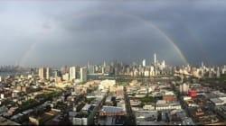Ένα ουράνιο τόξο εμφανίστηκε πάνω από το World Trade Center πριν την επέτειο της 11ης