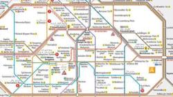 Pour aider les réfugiés à se déplacer, la carte du métro de Berlin traduite en