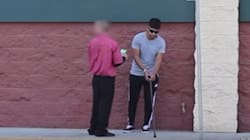 길에서 시각장애인이 복권에 당첨됐는지 묻는다면(실험
