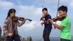 대청봉에서 바이올린을 연주한 엄마와 두