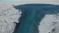 La fonte du Groenland illustrée par les saisissantes images d'un drone