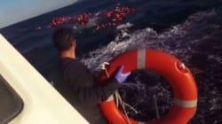 Ραγίζουν καρδιές οι σκηνές από το βίντεο του Λιμενικού κατά την επιχείρηση διάσωσης προσφύγων στη Λέσβο στις 28