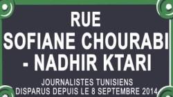 Action RSF - Une rue de Paris porte provisoirement le nom de Sofiane Chourabi et Nadhir Ktari