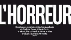 파리 테러를 전하는 전 세계 언론들의 1면