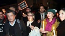 Un sit-in en solidarité avec les victimes des attentats de Paris à