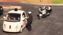 구글 무인자동차가 교통 법규 위반으로