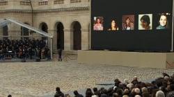 Les noms des victimes égrenés un à un dans la cour des Invalides