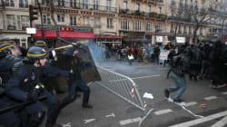 Affrontements entre manifestants et police place de la République avant la COP21 à