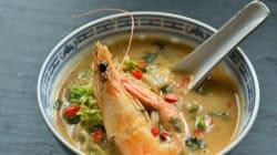 Πικάντικη Σούπα με Γαρίδες, Κάρυ και Κρέμα