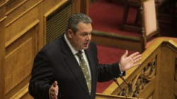 Ένταση στην Βουλή μετά τις κατηγορίες Καμμένου κατά Βενιζέλου για την υπόθεση των