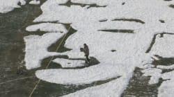 Χιονισμένο πορτρέτο της Μέριλιν