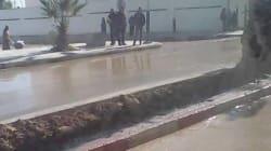 Ja l'Ma : à Khenchela, un château d'eau s'effondre, la ville se noie dans la boue