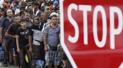 난민에 벽 높이는 스웨덴 : 덴마크 국경 다리