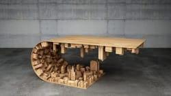 '인셉션'의 명장면을 닮은 커피 테이블(사진