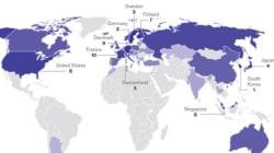 한국, 지구에서 가장 혁신적인 국가 1위에