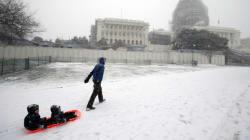 '역대급 눈폭풍' 워싱턴은 초긴장