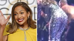Le souci de robe de Jennifer Lopez en plein