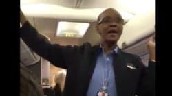 이 승무원은 폭풍에도 비행기가 이륙을 해서 정말