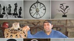 Merzouk Bellahcene, cet artisan qui métamorphose la ferraille en œuvre