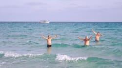 Vous avez froid? À Kélibia, certains en sont à leur énième baignade!
