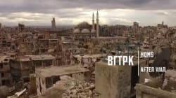 내전으로 완전히 파괴된 시리아 도시를