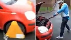 Οδηγός διαλύει το αυτοκίνητό του για να μην το βγάλουν σε