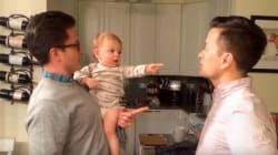 Face au jumeau de son papa, ce bébé est assez