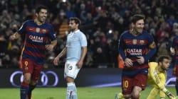 Le penalty complètement fou inscrit par Messi et Suarez a une longue