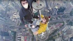 Ils escaladent une tour de 384 mètres et prennent un