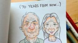 Της έδειξε πώς θα είναι οι δυο τους σε 70 χρόνια και εκείνη τον