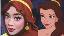 Elle se transforme en princesses Disney avec son