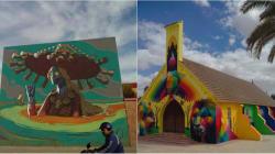 De grands noms du street art ont peint des fresques géantes à El
