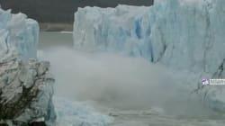 Les images spectaculaires de l'effondrement d'un glacier