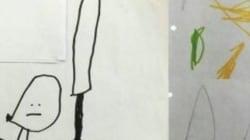 Diese Kinderzeichnung sollte einen geheimen Terrorplan