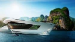 Le yacht du futur, son héliport et sa collection de