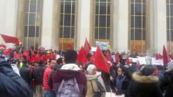 Les Marocains résidant en France manifestent contre les propos de Ban
