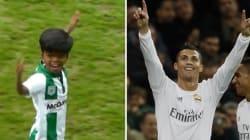 Son imitation de Cristiano Ronaldo est