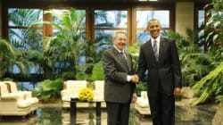 La poignée de main entre Castro et Obama à La Havane