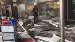 Les premières images des explosions à l'aéroport de Bruxelles postées sur les réseaux