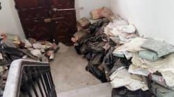 Des photos montrent des archives d'un tribunal tunisois dans un piteux