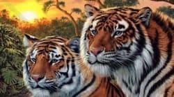 이 그림에는 호랑이가 몇 마리