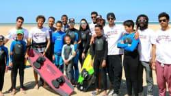 Lalla Salma, Moulay El Hassan et Lalla Khadija en tenue de surf à Dakhla