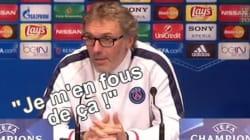 Laurent Blanc agacé par une question sur une possible élimination du PSG en Ligue des