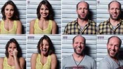 3잔의 와인을 마신 15명의 표정 변화를 찍었다(사진